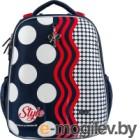 Школьный рюкзак Mike&Mar Стиль / 1008-169 (темно-синий/красный)