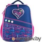 Школьный рюкзак Mike&Mar Стиль / 1008-177 (синий/малиновый)