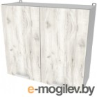 Шкаф навесной для кухни Интерлиния Компо ВШС80-720-2дв (дуб белый)