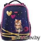 Школьный рюкзак Mike&Mar Китти / 1008-127 (синий/малиновый кант)