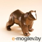 Статуэтка Нашы майстры Медведь геометрический / 9008 (бронза)