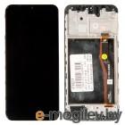дисплей в сборе с тачскрином и передней панелью (модуль) для Samsung Galaxy M20 (SM-M205) черный оригинал
