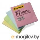 Блок самоклеящийся бумажный Silwerhof 682156-03 76x76мм 100лист. 75г/м2 пастель розовый