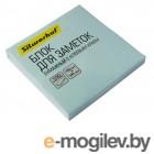 Блок самоклеящийся бумажный Silwerhof 682156-04 76x76мм 100лист. 75г/м2 пастель голубой