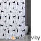 Шторки в ванную комнату Bath Plus Little Black Cat 180x180cm ch-12256