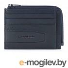 Чехол для кредитных карт Piquadro W101 PP4822W101R/BLU синий натур.кожа
