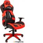 Игровое кресло Chairman game 25 черный/красный (экокожа, регулируемый угол наклона, механизм качания)