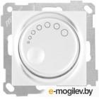 Выключатель поворотный (диммер) (скрытый, без рамки, винт. зажим, 1000Вт) белый, DARIA, MUTLUSAN (220VAC, 100 - 1000VA,  50 Hz, IP20)