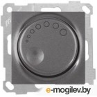 Выключатель поворотный (диммер) (скрытый, без рамки, винт. зажим, 1000Вт) дымчатый, DARIA, MUTLUSAN (220VAC, 100 - 1000VA,  50 Hz, IP20)