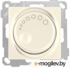 Выключатель поворотный (диммер) (скрытый, без рамки, винт. зажим, 1000Вт) кремовый, DARIA, MUTLUSAN (220VAC, 100 - 1000VA,  50 Hz, IP20)