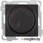 Выключатель поворотный (диммер) (скрытый, без рамки, винт. зажим, 1000Вт) черный, DARIA, MUTLUSAN (220VAC, 100 - 1000VA,  50 Hz, IP20)