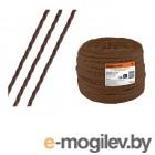 Ретро провод Эко 2х1,5 витой, коричневый (50м) TDM