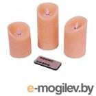 Светодиодные свечи Peha Magic Мерцающие 3шт Pink MB-20294