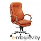 Кресло руководителя Бюрократ T-9950 рыжий Leather Ontano кожа крестовина хром
