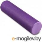 Валик для фитнеса массажный Indigo Foam Roll / IN022 (фиолетовый)