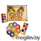 Деревянные игрушки Игра-мозаика Учитель Бабочка с Цветочком ИДК-24