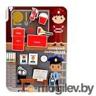 Деревянные игрушки Игра-сортер Учитель Сложи профессию: пожарный, полицейский ИДК-23
