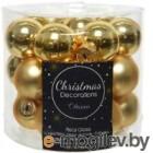 Набор шаров новогодних Decoris Шары / 010247 (24шт, светло-золотой)