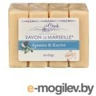 Натуральная косметика для тела La Cigale Мыло марсельское Жасмин и каритэ 4шт по 100g 50002835