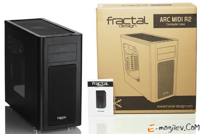 Fractal Design Arc Midi R2 black w/o PSU ATX SECC 3*fan 2*USB3.0 audio screwless bott PSU