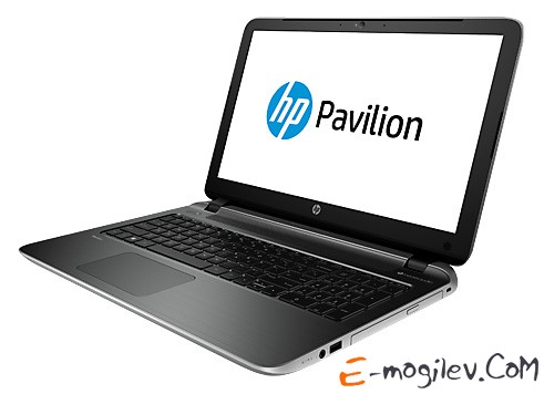 "Ноутбук HP Pavilion 15-p002sr A8 6410/4Gb/500Gb/DVD/UMA/15.6""/HD/Glare/1024x576/Win 8.1/silver/BT2.1/6c/WiFi/Cam"