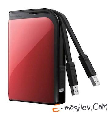 "Buffalo USB 3.0 500Gb HD-PZ500U3R-EU MiniStation Extreme 2.5"" red"