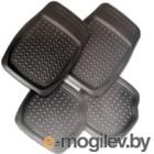 Комплект ковриков для авто AVG 203002 (4шт, черный)