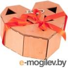Подарочный набор Экспедиция Сердце (2 бокала, свеча, фанерная коробка)