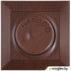 Выключатель поворотный (диммер) (скрытый, винт. зажим, 600Вт) орех, DARIA, MUTLUSAN (220VAC, 60 - 600VA,  50 Hz, IP20)