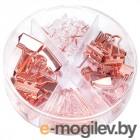 Набор мелкоофисный Deli 78553 гвоздики 20шт скрепки 30шт золотистый металл пластиковая туба