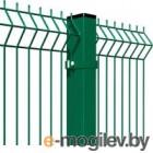 3D панель заборная Lihtar 1530х2500мм 3/4мм 200/50 Оц+ПП (зеленый)
