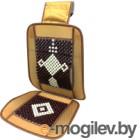 Накидка на автомобильное сиденье AVG 204014 (коричневый с белым узором)