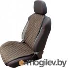 Накидка на автомобильное сиденье Novatonic НА-001 из алькантары (шоколад)
