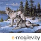 Картина по номерам Наследие Пара волков / РН-012