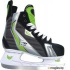 Коньки хоккейные Action Lucky PW-216AE (размер 38, черный/зеленый)