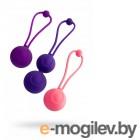 Набор вагинальных шариков LEROINA by TOYFA Bloom, силикон, фиолетово-розовый, 3,1/3,1/2,6-3 см