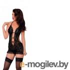 Ночная сорочка и трусы SoftLine Collection Ursula, черный, S/M