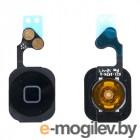 Кнопка HOME в сборе с механизмом и шлейфом для iPhone 5 черная
