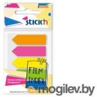 Закладки самокл. пластиковые Stick`n 27085 45x12мм 5цв.в упак. 20лист стрелки