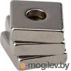 Неодимовый магнитный прямоугольник 10х10х3 мм с зенковкой 6х3,5 мм (упаковка 3 шт.)