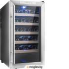 Винный шкаф Kitfort КТ-2409 серебристый (однокамерный)