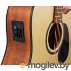 Эл.-ак. гитара, дредноут с вырезом, цвет натурал JET JDEC-255 OP