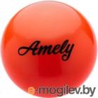 Мяч для художественной гимнастики Amely AGB-101 (19см, оранжевый)