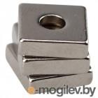 Прямоугольник магнитный неодимовый 10х10х3 мм с зенковкой 6х3,5 мм (упаковка 3 шт.)   REXANT