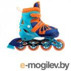 Роликовые коньки Onlitop Abec 7 Blue-Orange р.M 34-37