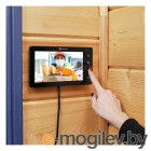Цветной монитор  видеодомофона 7 формата AHD, с детектором движения, функцией фото- и видеозаписи. Цвет черный (модель AC-335)