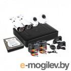 Комплект видеонаблюдения PROconnect, 2 внутренние, 2 наружные камеры AHD-M, с HDD 1Tб