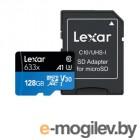 Карты памяти 128Gb - SmartBuy MicroSD Class 10 Advanced U3 V30 A1 SB128GBSDU1A-AD с адаптером SD (Оригинальная!)