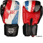 Боксерские перчатки RSC Hit Pu SB-01-146 (р-р 14, белый/красный/синий)