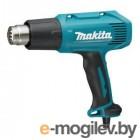 Термовоздуходувка MAKITA HG 6030 K в чем. + набор сопл (1800 Вт, 3 скор., 50-600 °С, ступенч. рег.)